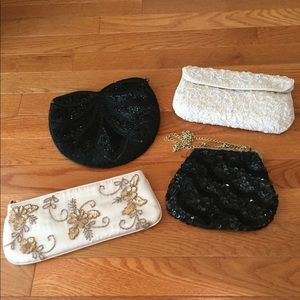 Handbags - Four Vintage Inspired Clutches